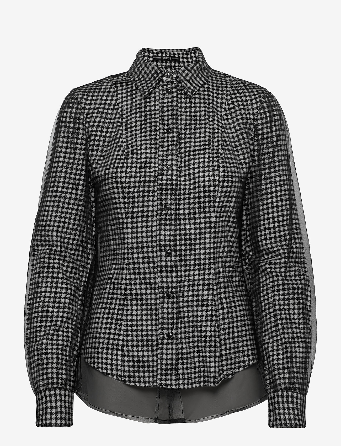 GUESS Jeans - LS ANETTE SHIRT - långärmade skjortor - black and white m - 0