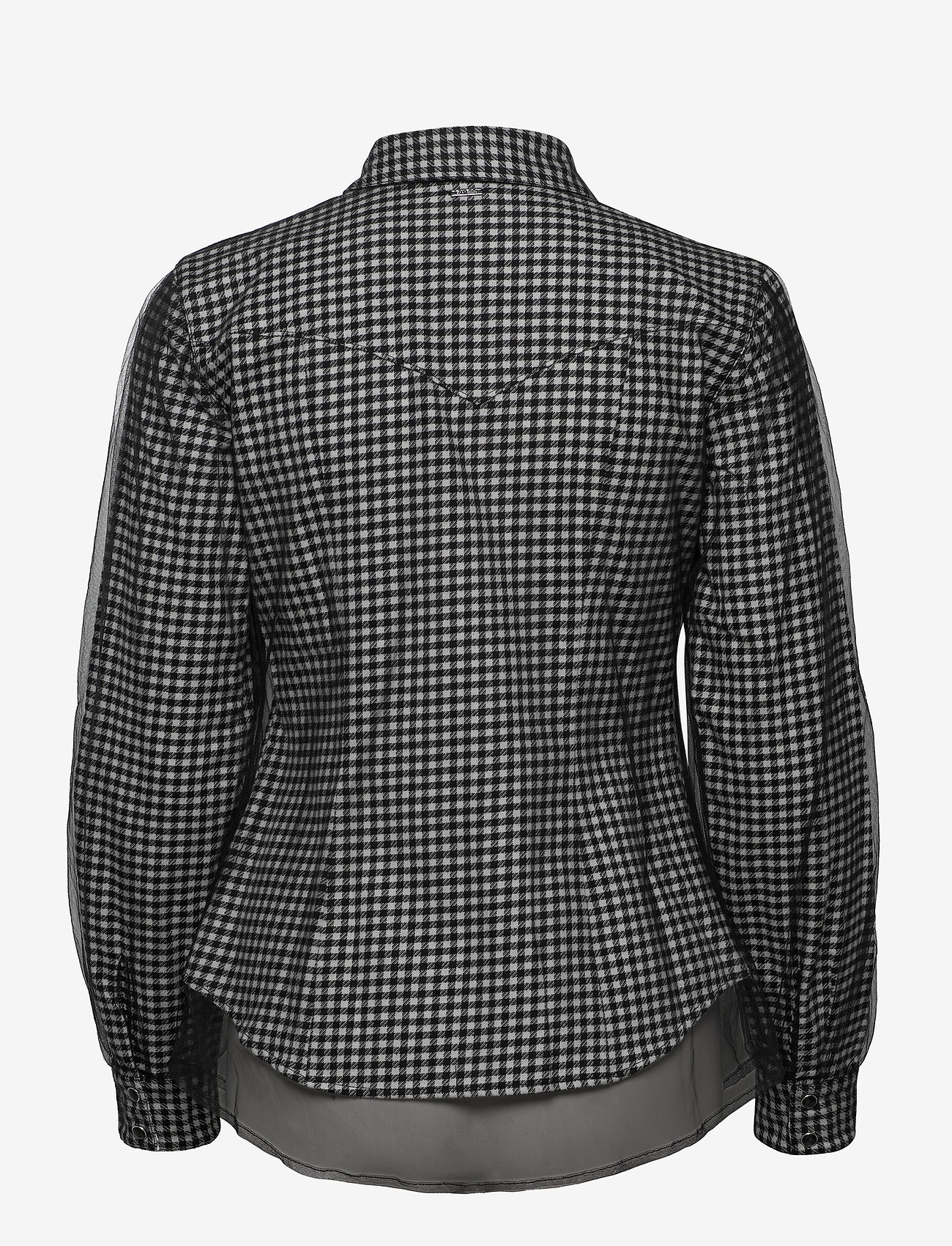 GUESS Jeans - LS ANETTE SHIRT - långärmade skjortor - black and white m - 1