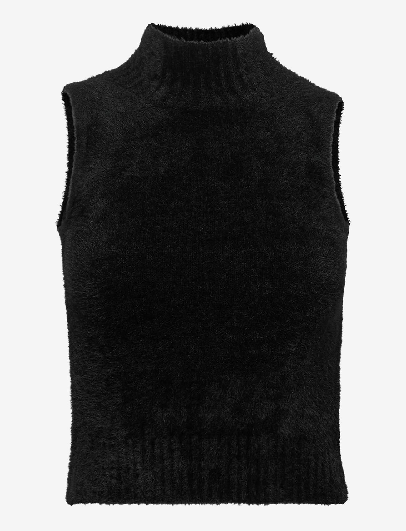 GUESS Jeans - LORE TURTLE NECK SWEATER - knitted vests - jet black a996 - 0