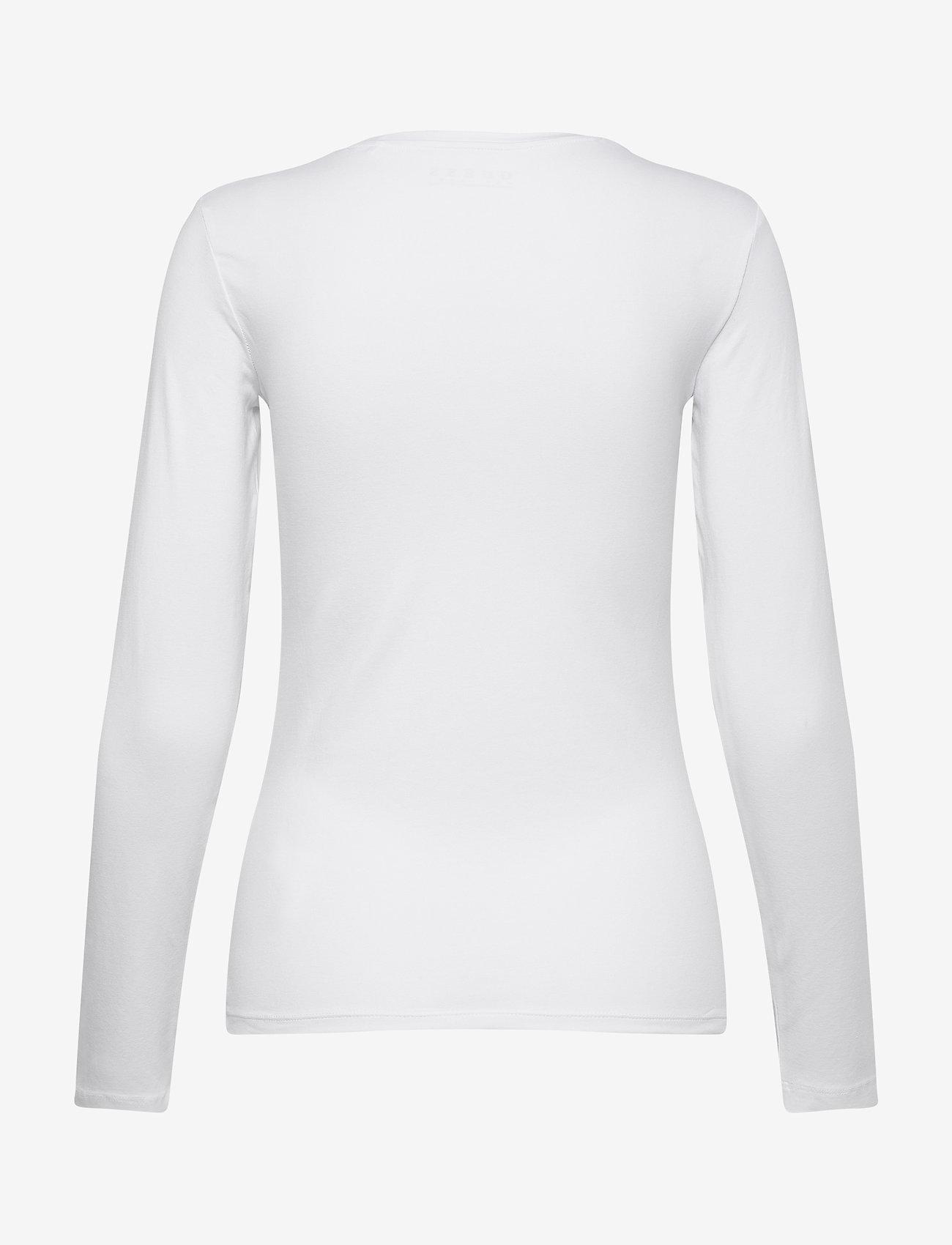 GUESS Jeans LS CN VILMA TEE - T-shirts & topper TRUE WHITE A000 - Dameklær Spesialtilbud