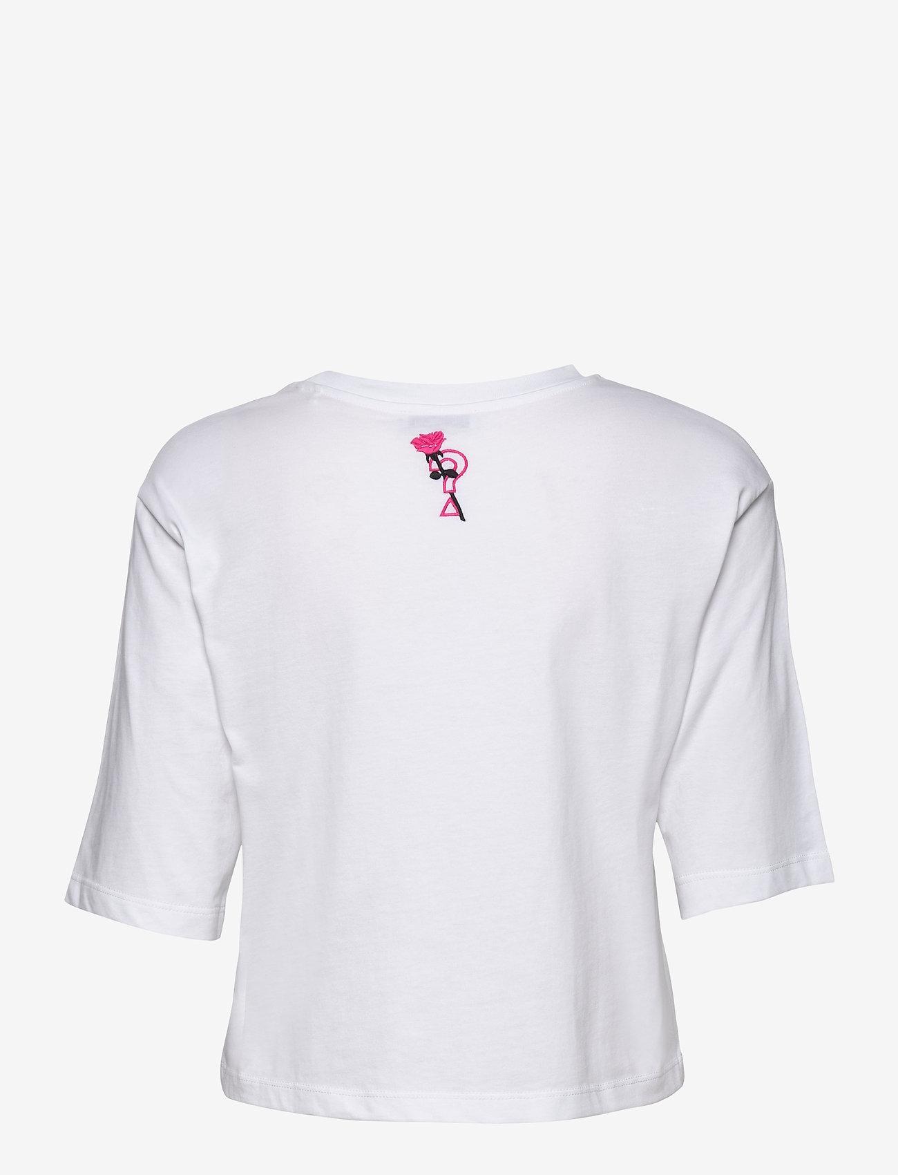 GUESS Jeans SS CN KENDRA TEE - T-shirts & topper TRUE WHITE A000 - Dameklær Spesialtilbud