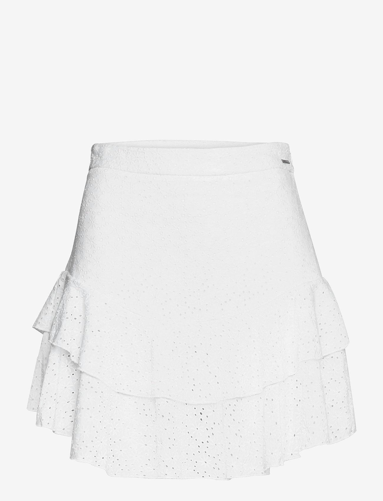 GUESS Jeans - TATIANA SKIRT - korta kjolar - true white a000 - 0
