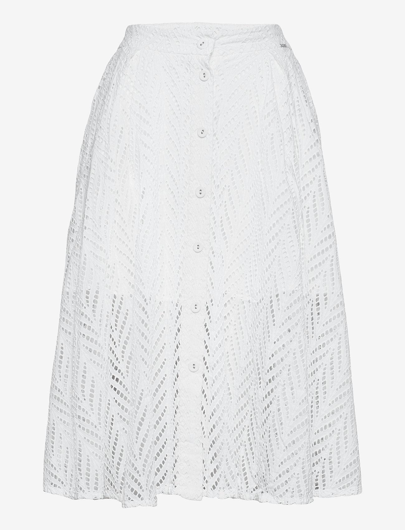 GUESS Jeans - NAJM SKIRT - jupes midi - true white a000 - 0