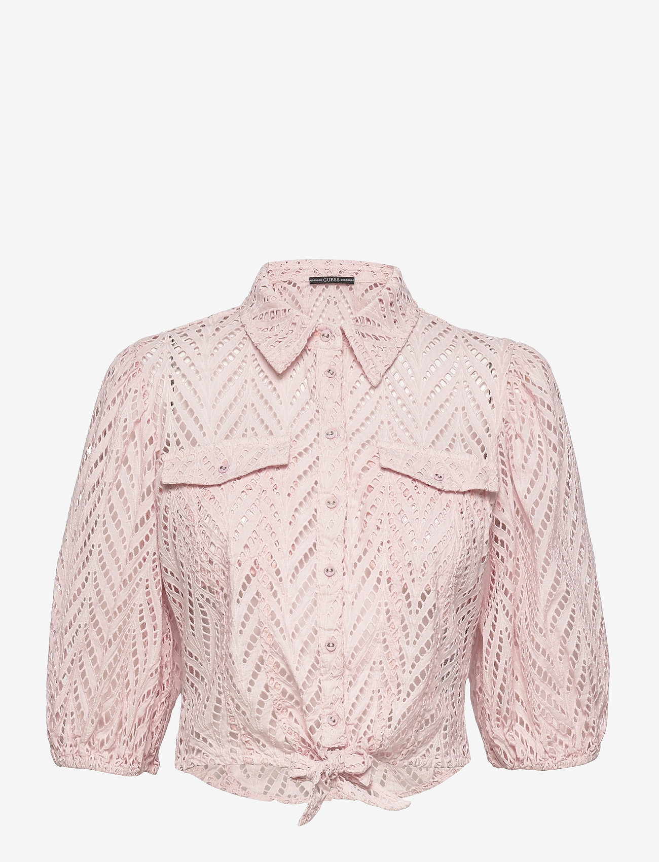 GUESS Jeans - SS PHOEBE SHIRT - chemises à manches courtes - alabaster pink - 0