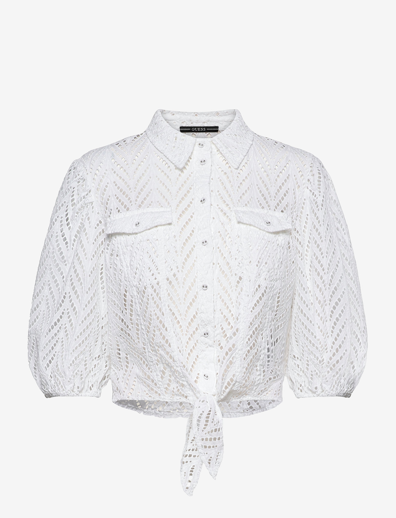 GUESS Jeans - SS PHOEBE SHIRT - kortärmade skjortor - true white a000 - 0