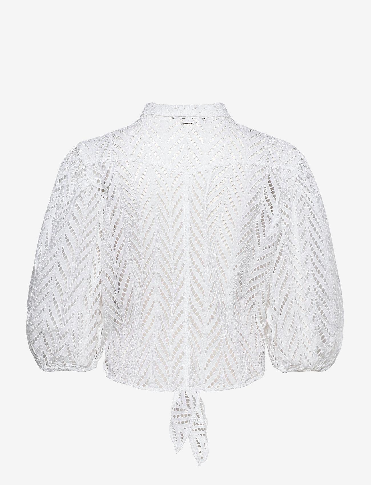 GUESS Jeans - SS PHOEBE SHIRT - kortärmade skjortor - true white a000 - 1
