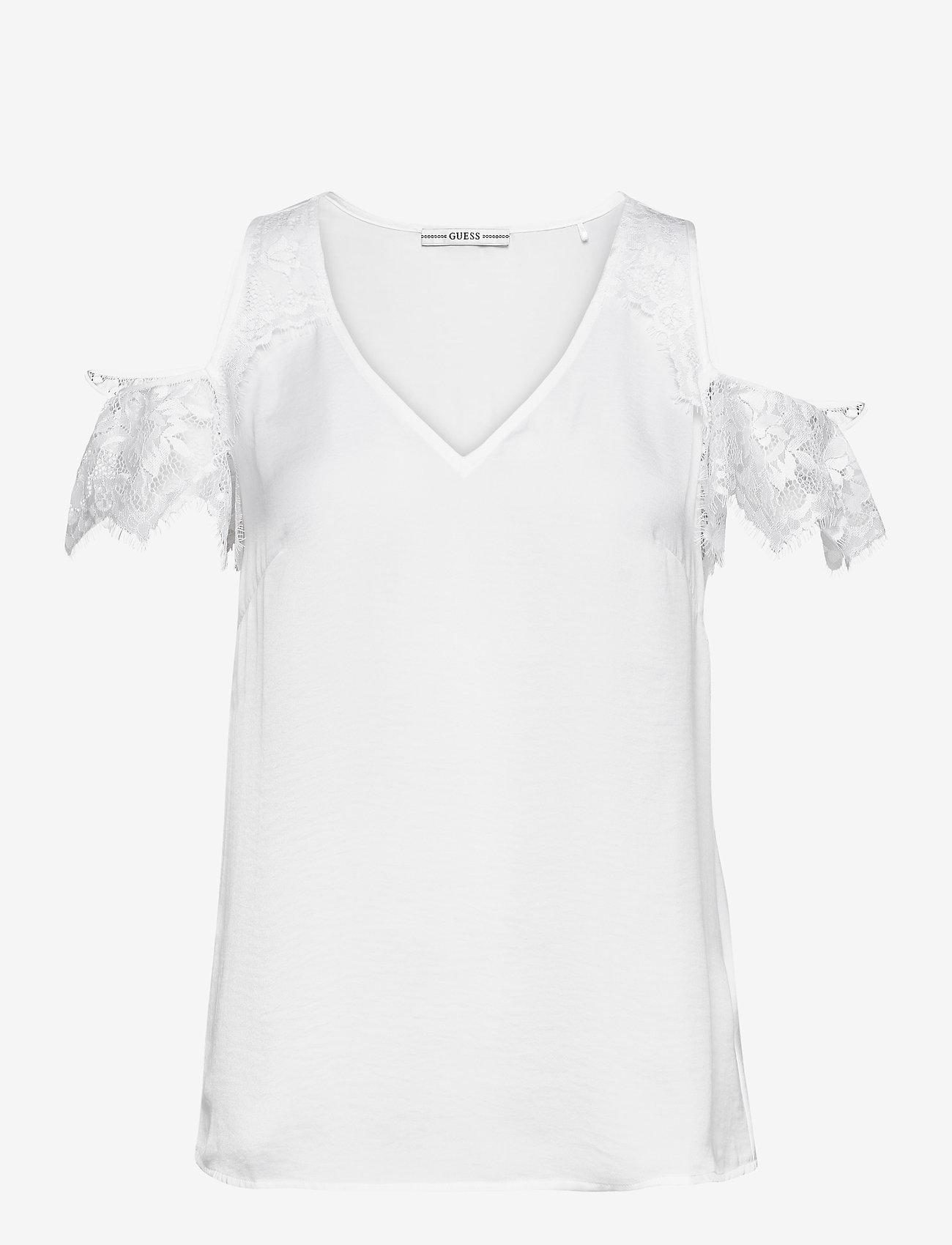 GUESS Jeans - SL MARIAH TOP - t-shirts - true white a000 - 0