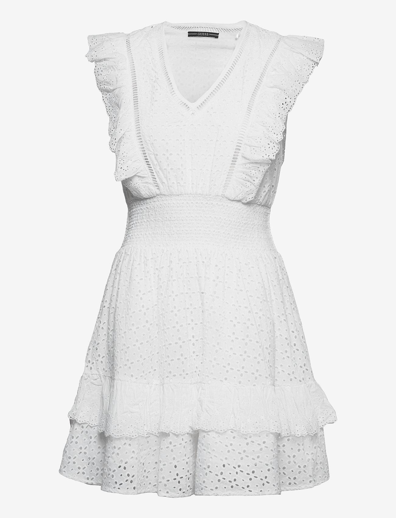 GUESS Jeans - AISHA DRESS - sommerkjoler - true white a000 - 0