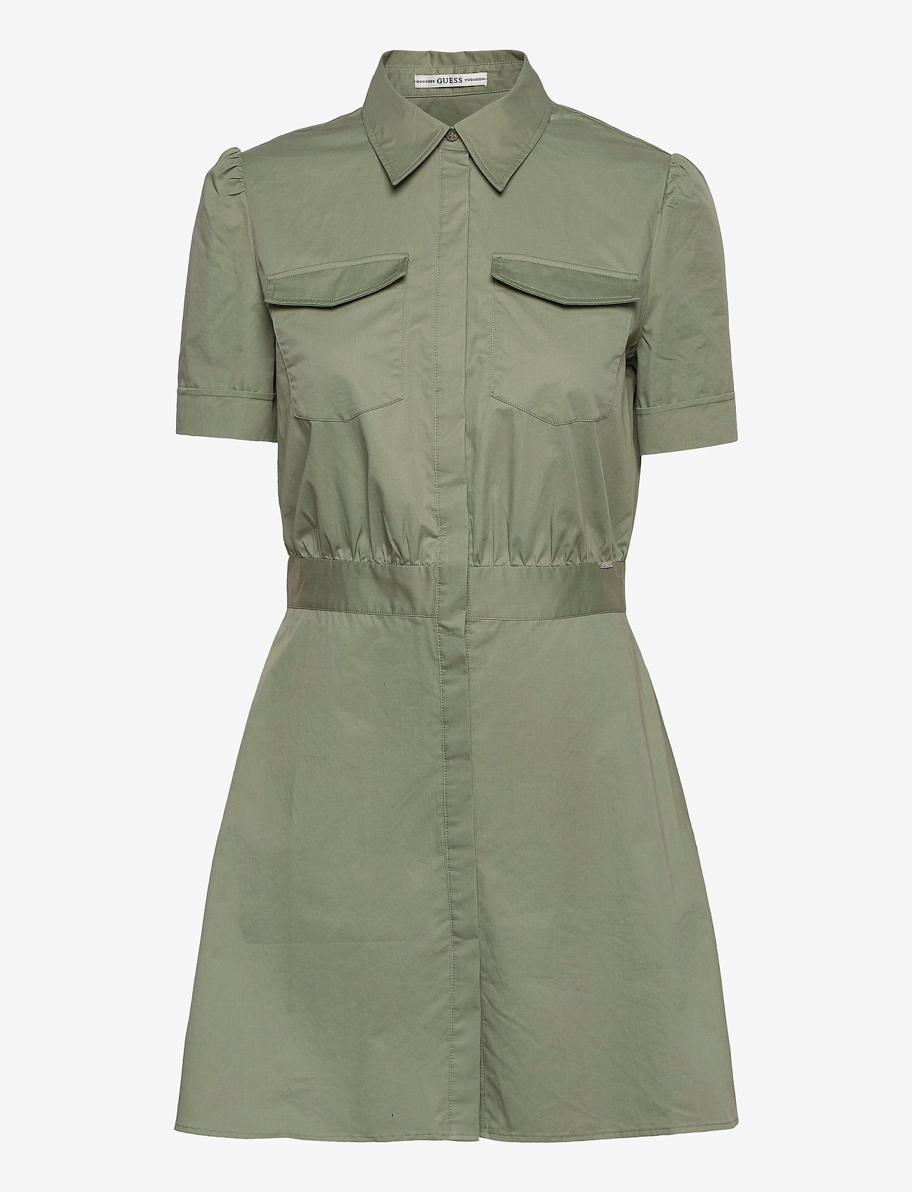 GUESS Jeans - REYNA DRESS - sommarklänningar - army sage - 0