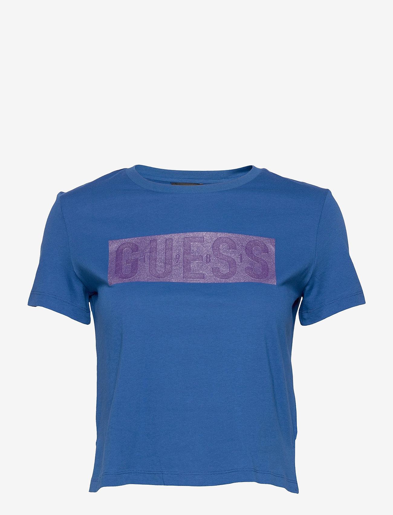GUESS Jeans - SS CN ADRIA TEE - t-shirts - thai sapphire - 0
