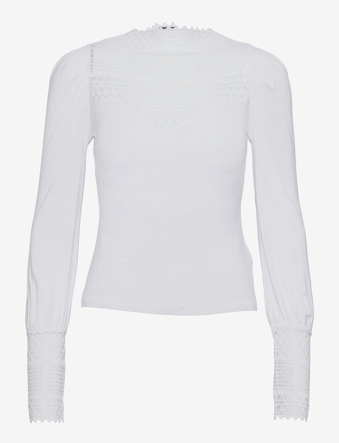GUESS Jeans - LS LATIFE TOP - långärmade blusar - pure white - 0