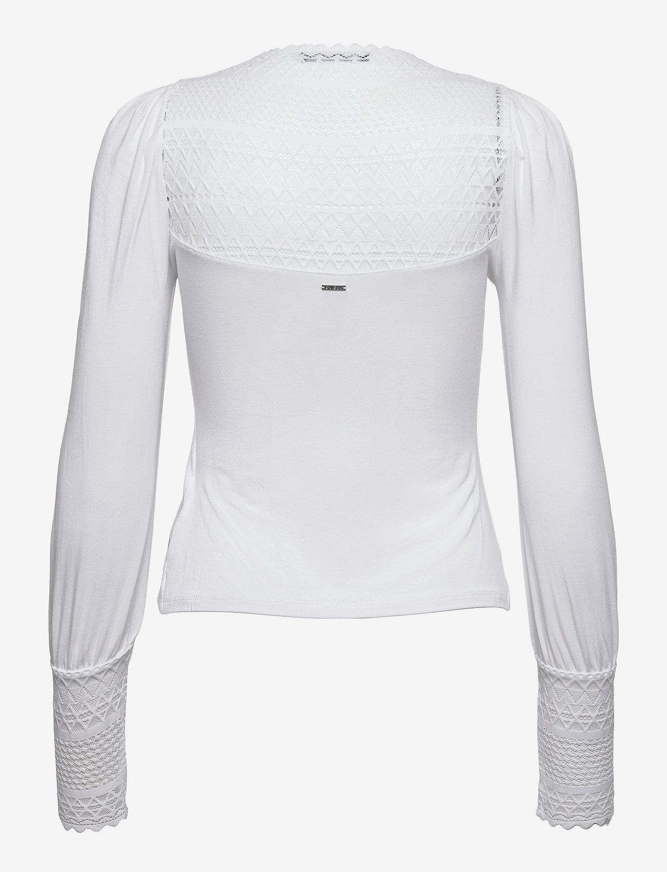 GUESS Jeans - LS LATIFE TOP - långärmade blusar - pure white - 1