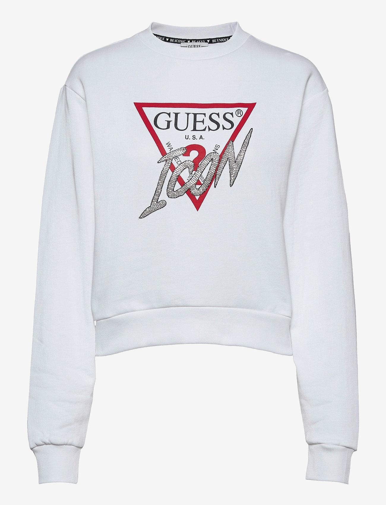 GUESS Jeans - ICON FLEECE - sweatshirts - true white a000 - 0