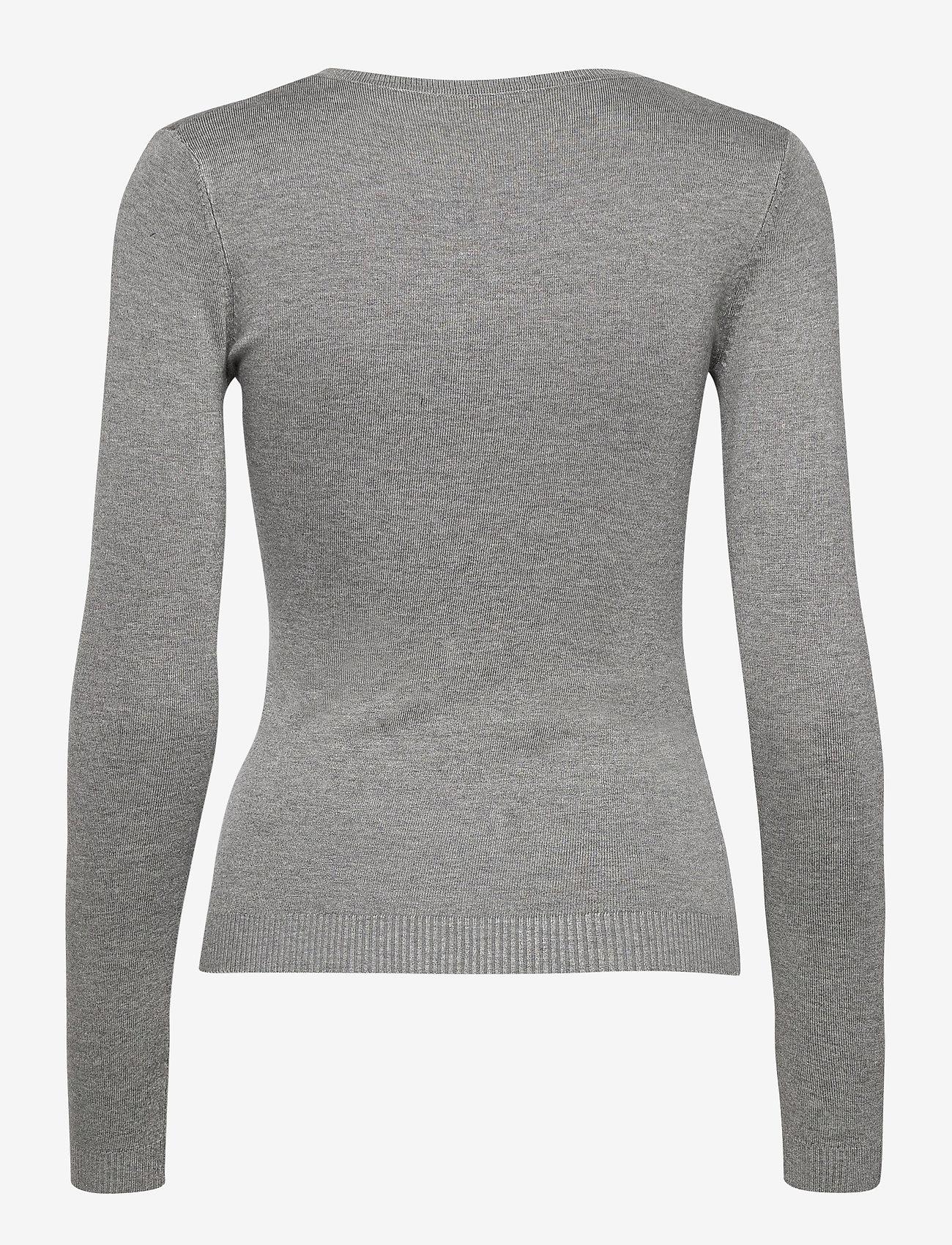 GUESS Jeans - ANGELINE V-NECK SWTR - tröjor - stone heather gre - 1