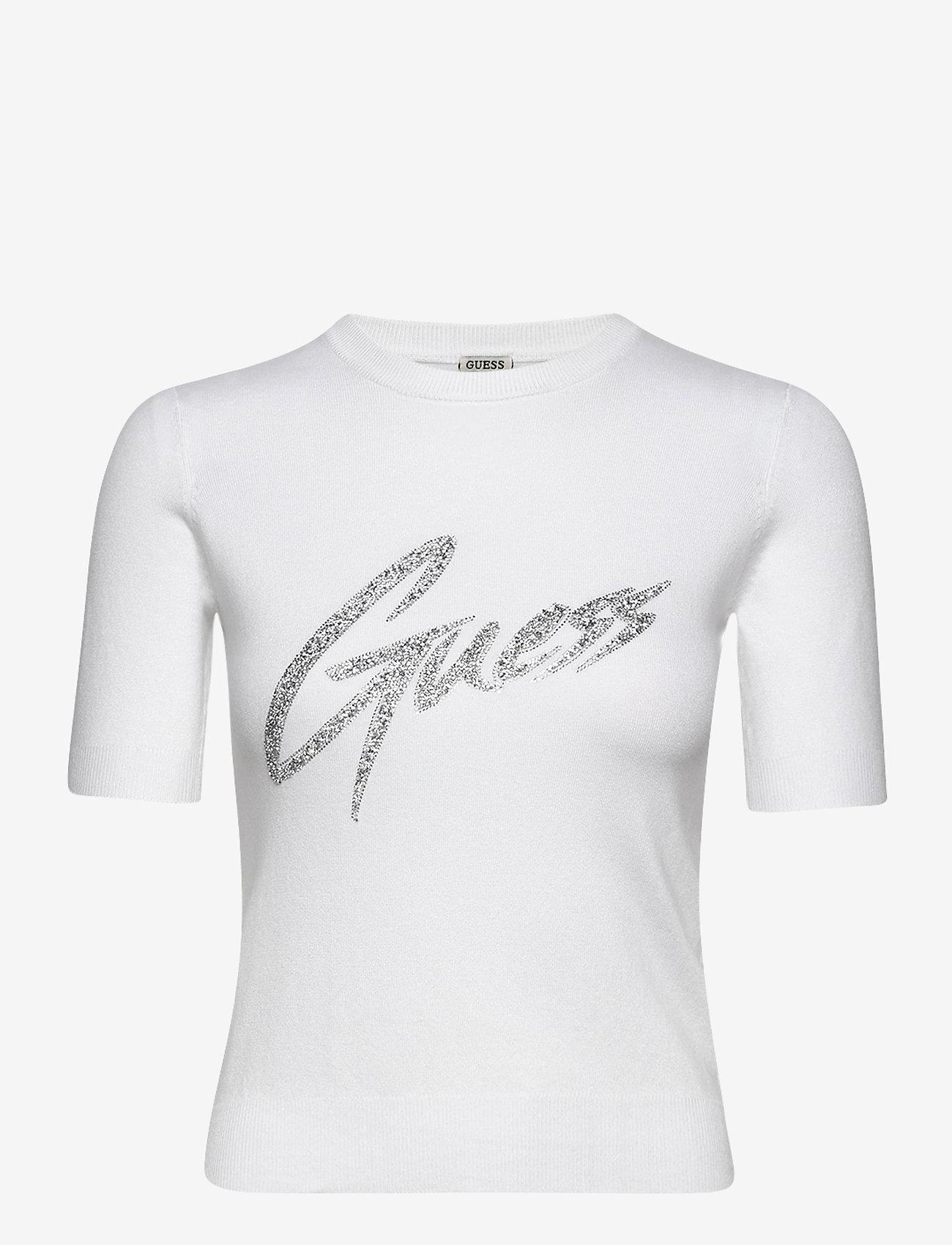 GUESS Jeans - DEBORAH RN SWEATER - stickade toppar - true white a000 - 0