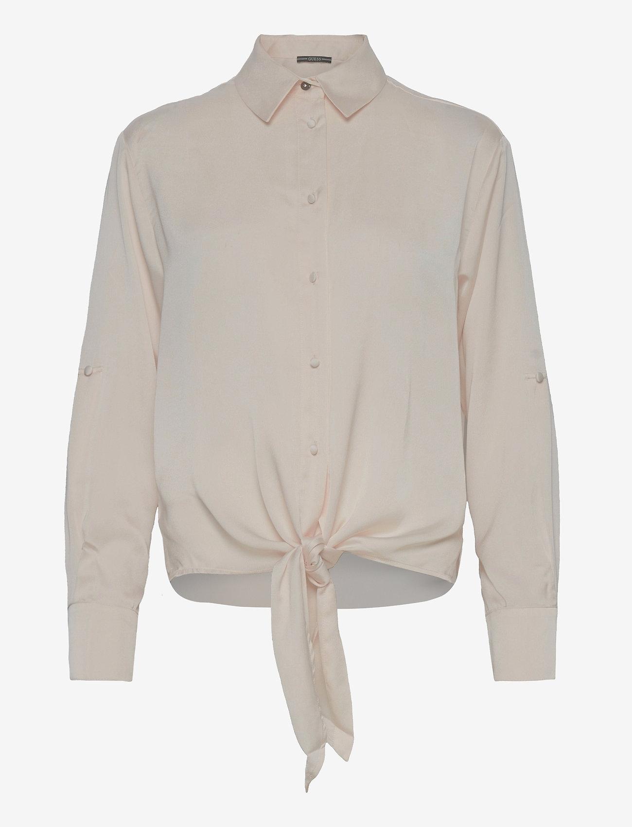 GUESS Jeans - LS AMANDA SHIRT - långärmade skjortor - cream white - 0