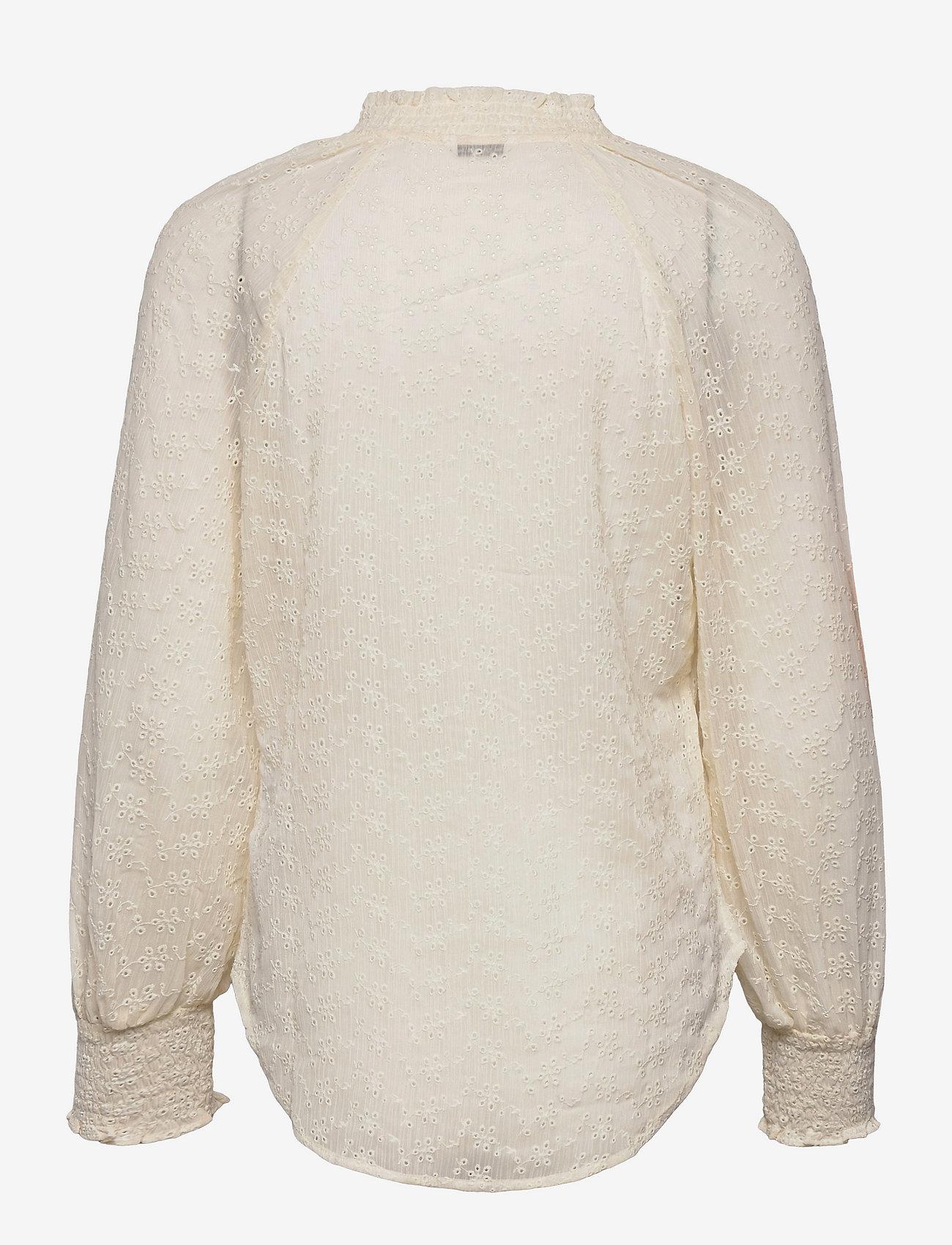 GUESS Jeans - 3 QTR SLV CHARISSE BLOUSE - långärmade blusar - cream white - 1