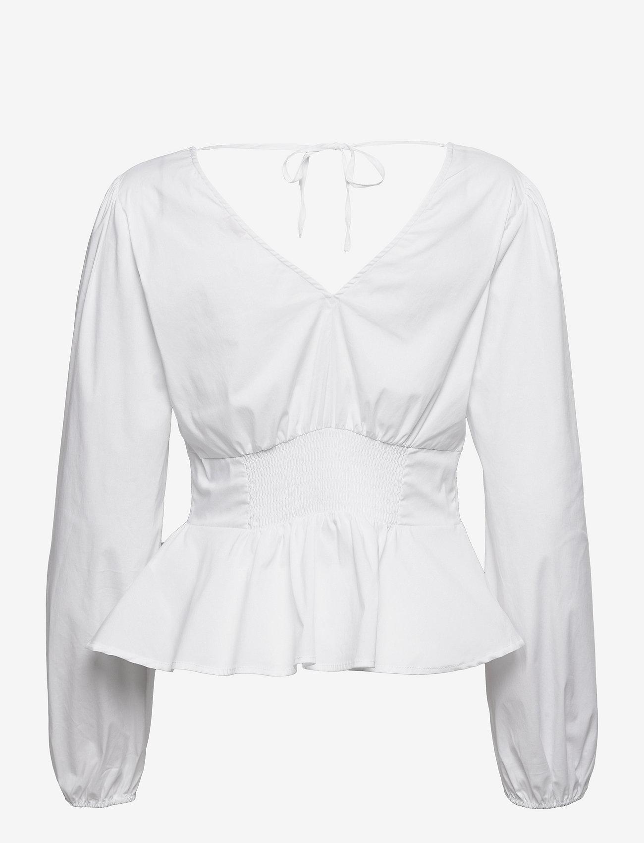 GUESS Jeans - LS SKYLAR TOP - långärmade blusar - pure white - 1