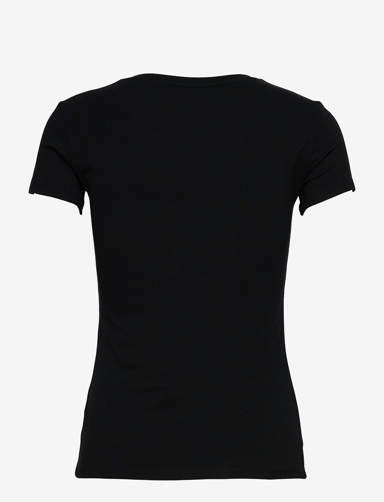 GUESS Jeans - SS VN MINI TRIANGLE TEE - t-shirts - jet black a996 - 1