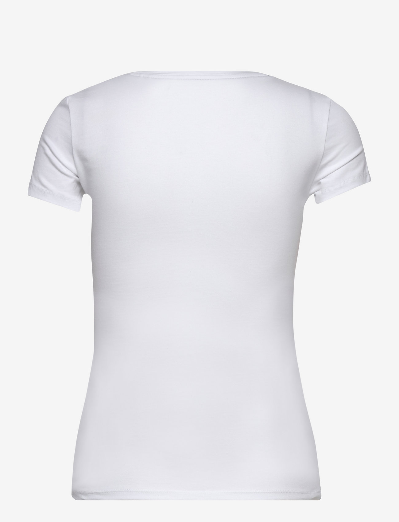 GUESS Jeans - SS VN MINI TRIANGLE TEE - t-shirts - pure white - 1