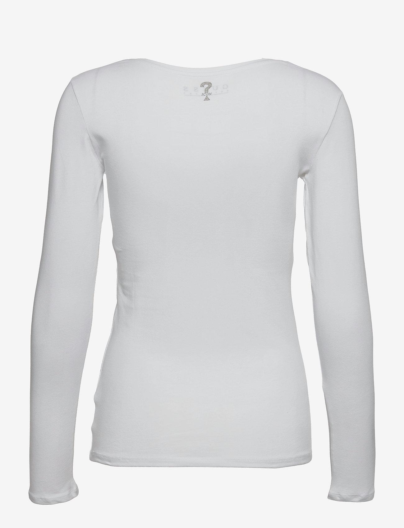 GUESS Jeans - LS CN RAISA TEE - långärmade toppar - pure white - 1
