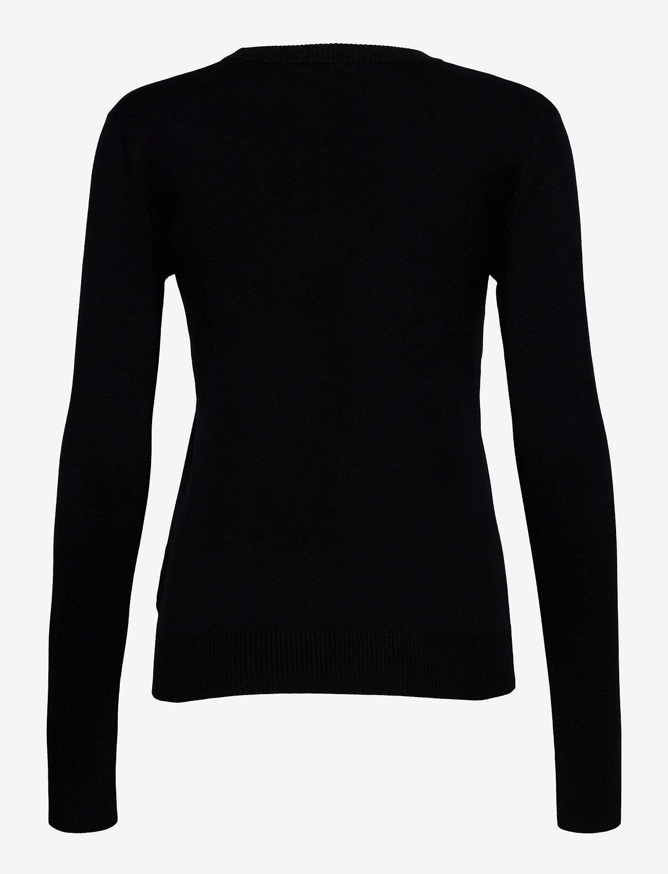 GUESS Jeans - ELVIRE RN LS SWTR - långärmade toppar - jet black a996 - 1