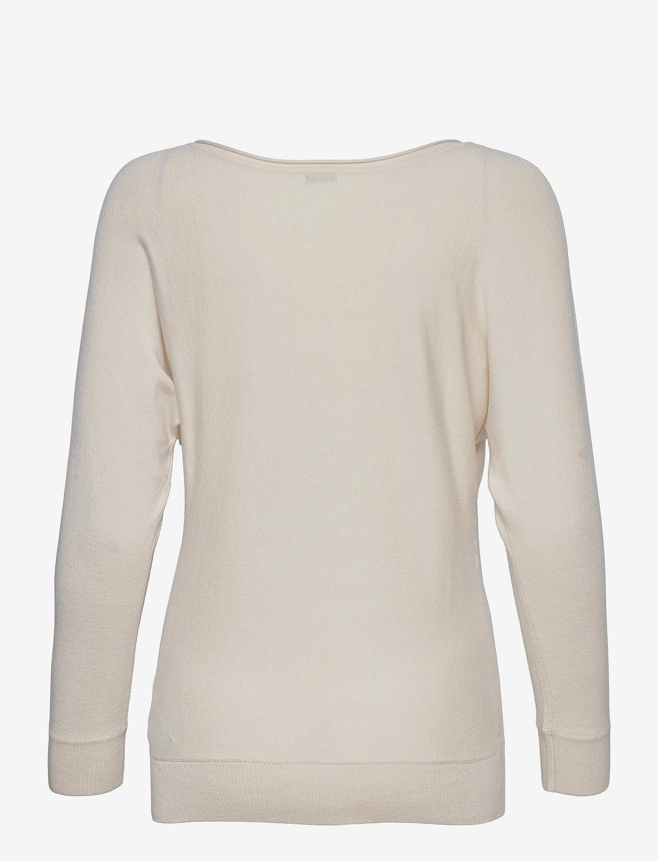 GUESS Jeans - CLAUDINE BAT SLEEVE SWTR - långärmade toppar - cream white - 1