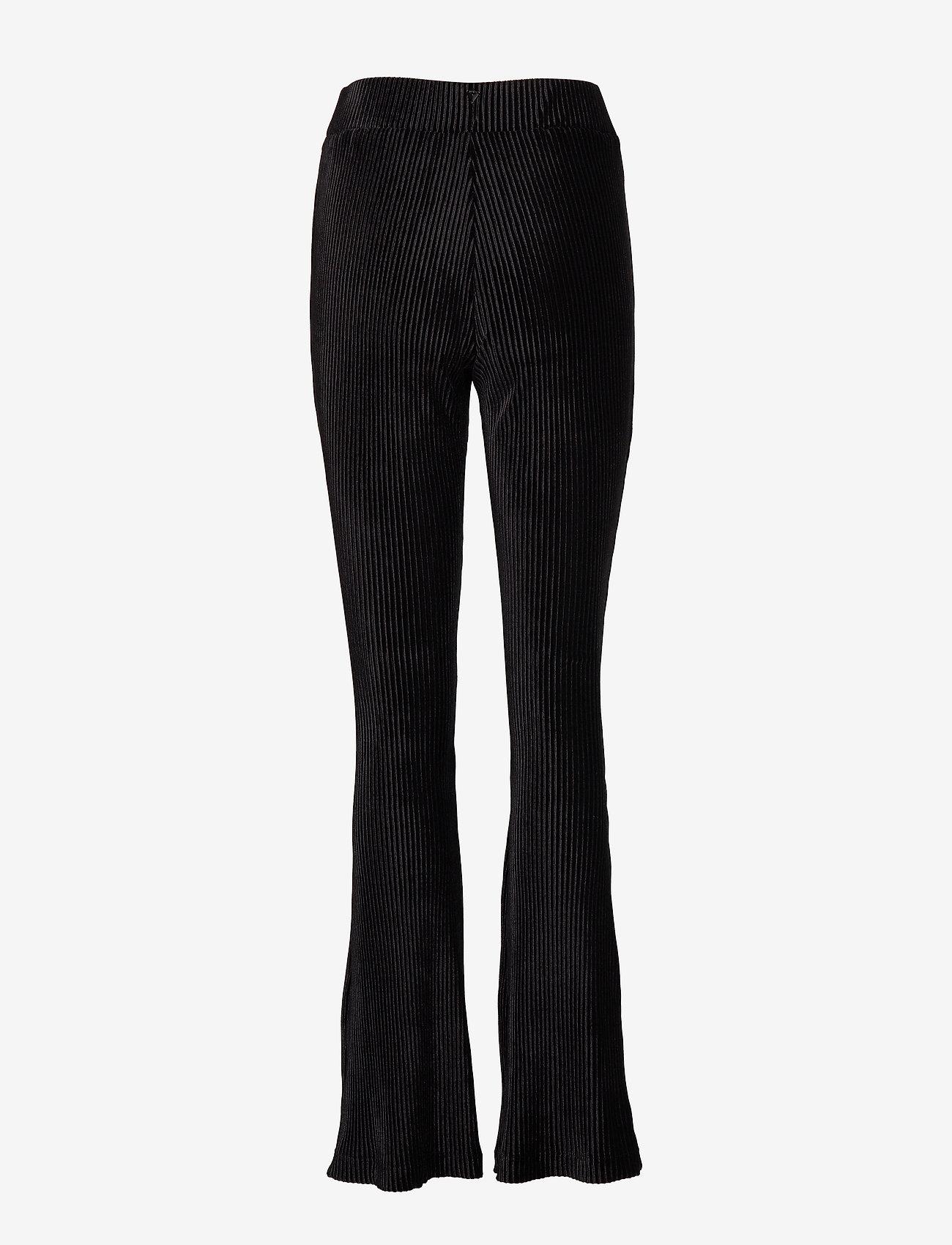 GUESS Jeans - AMBER PANTS - hosen mit weitem bein - jet black a996 - 1