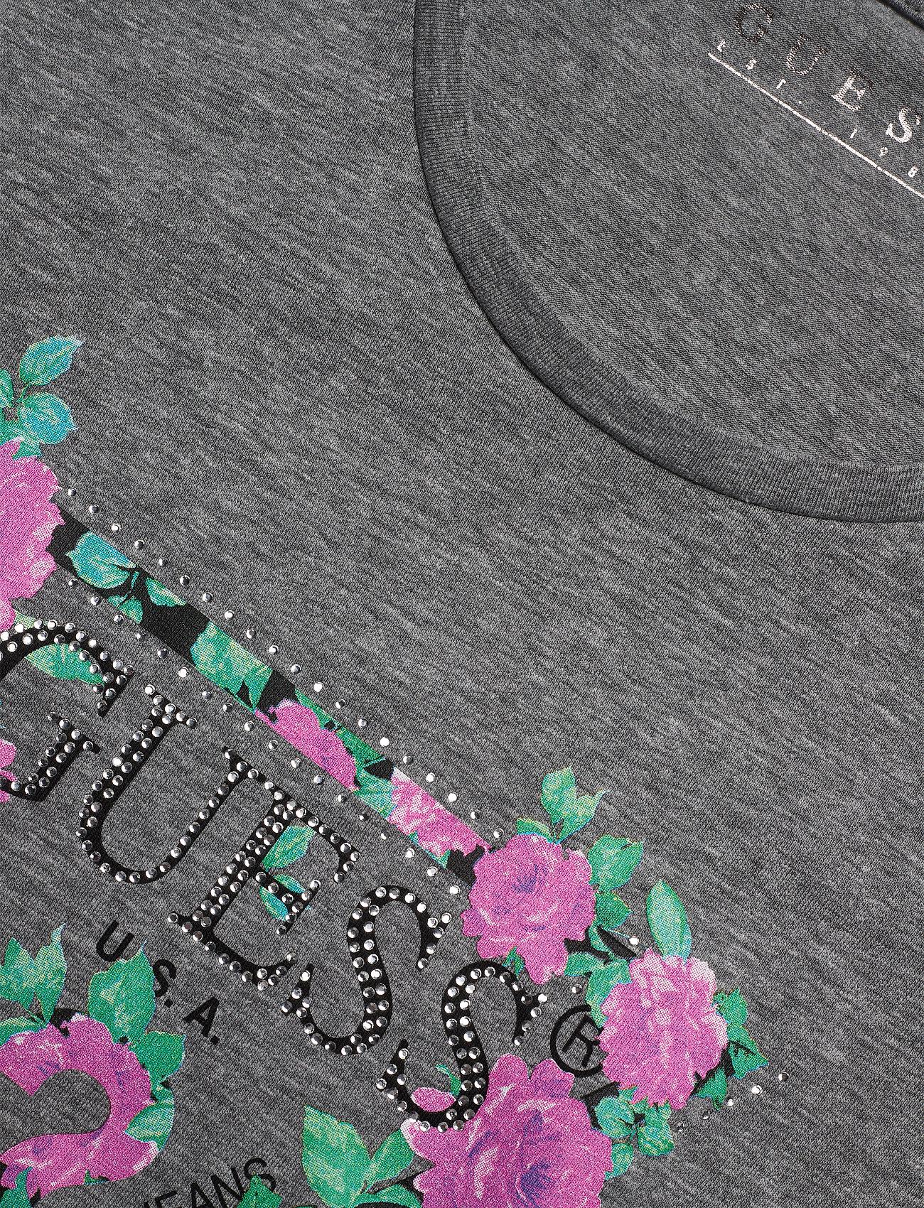 GUESS Jeans LS CN VILMA TEE - T-shirts & topper STONE HEATHER GRE - Dameklær Spesialtilbud