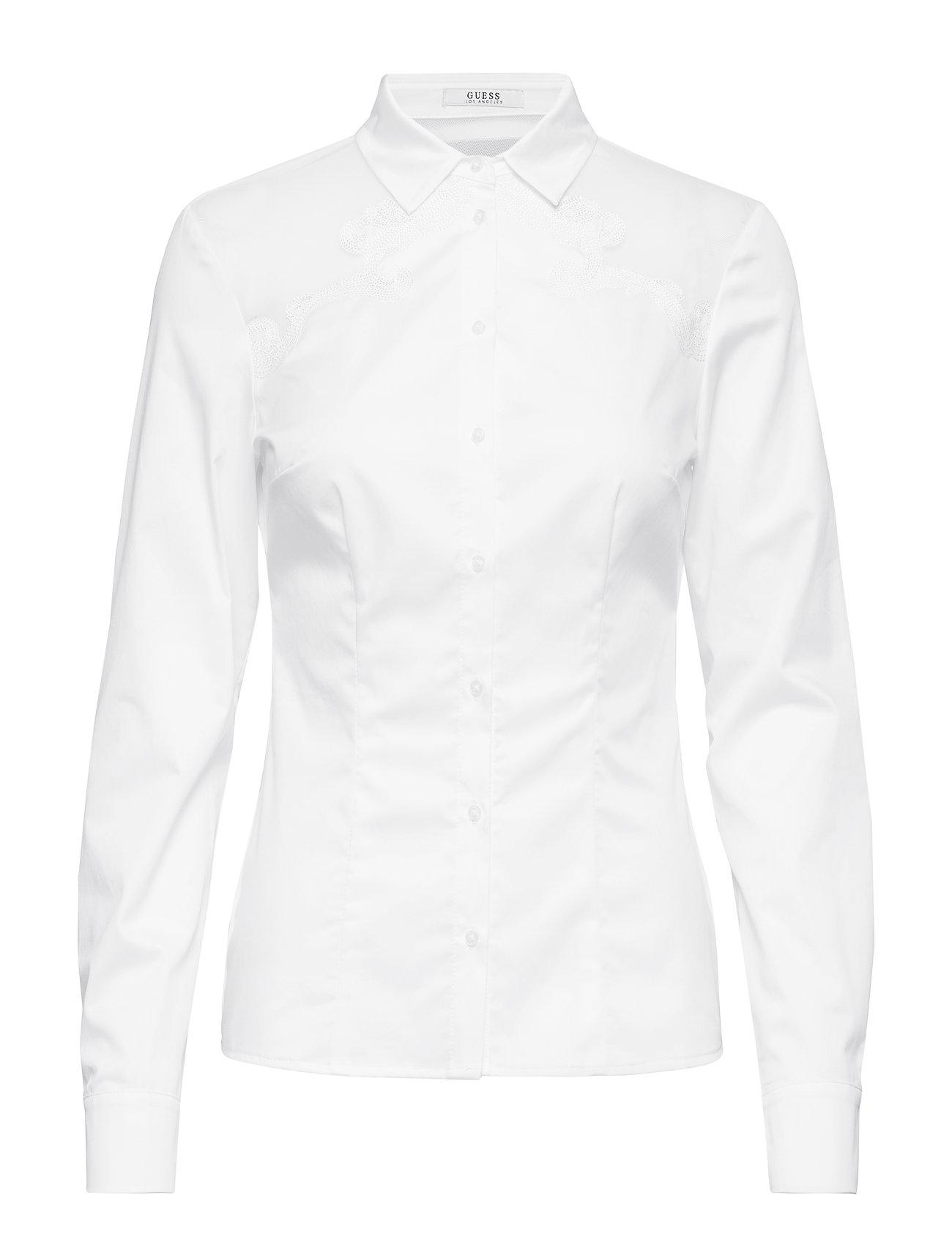 GUESS Jeans LS ROSALIA SHIRT - TRUE WHITE A000