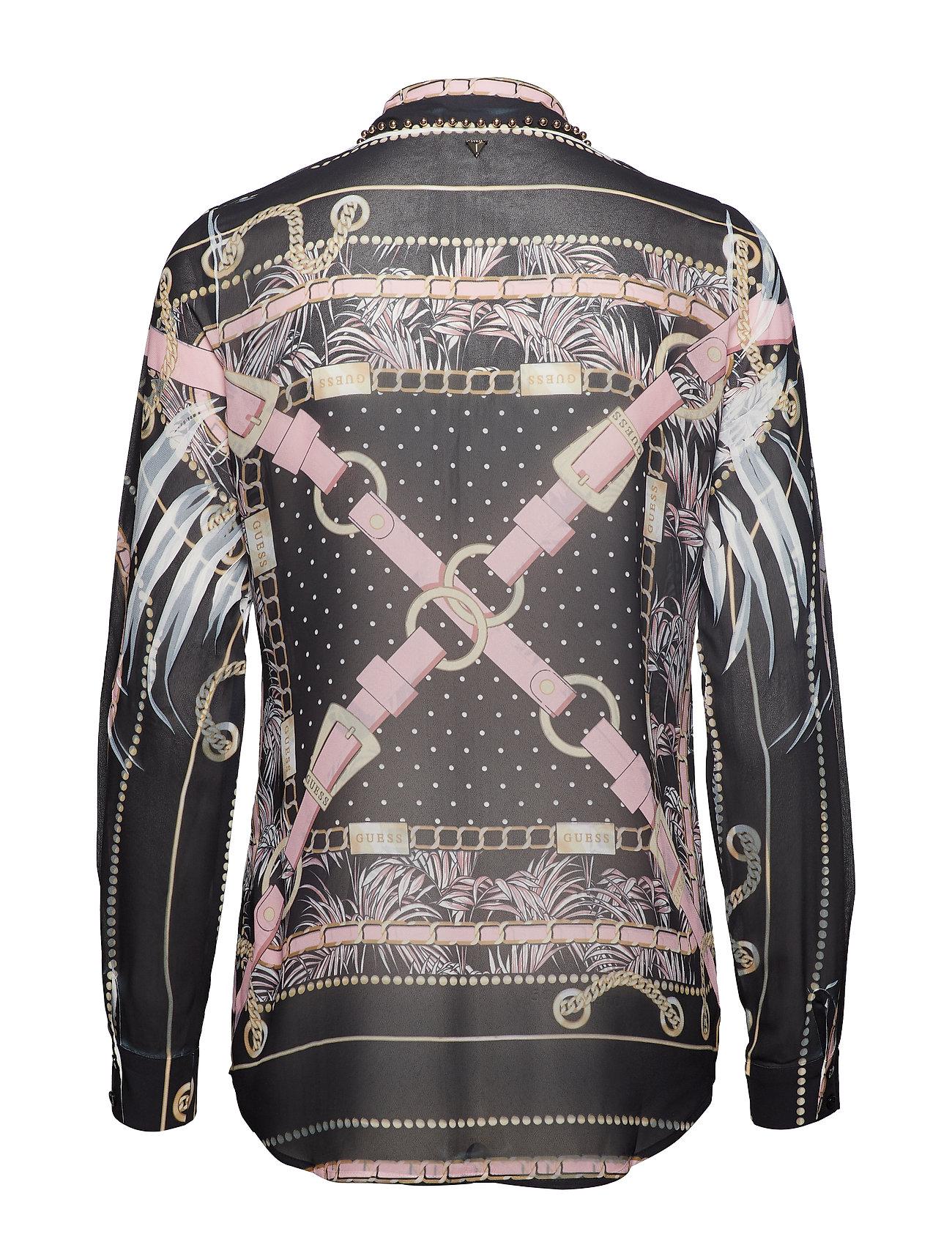 Ls Jeans Belt Shirtpastel BlackGuess Clouis UzqSVMp