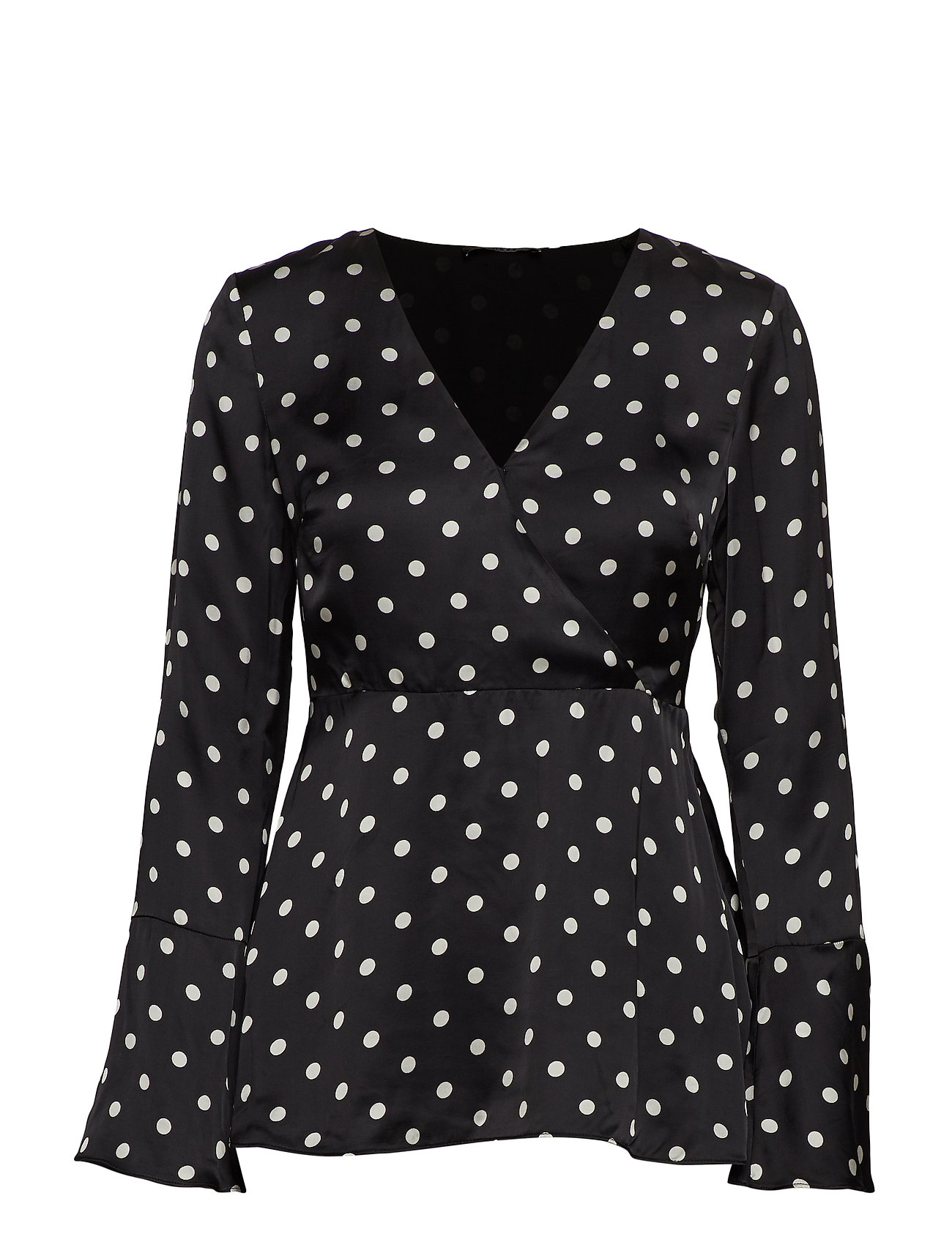 GUESS Jeans LS MAURIZIA TOP - B&W SMALL POIS