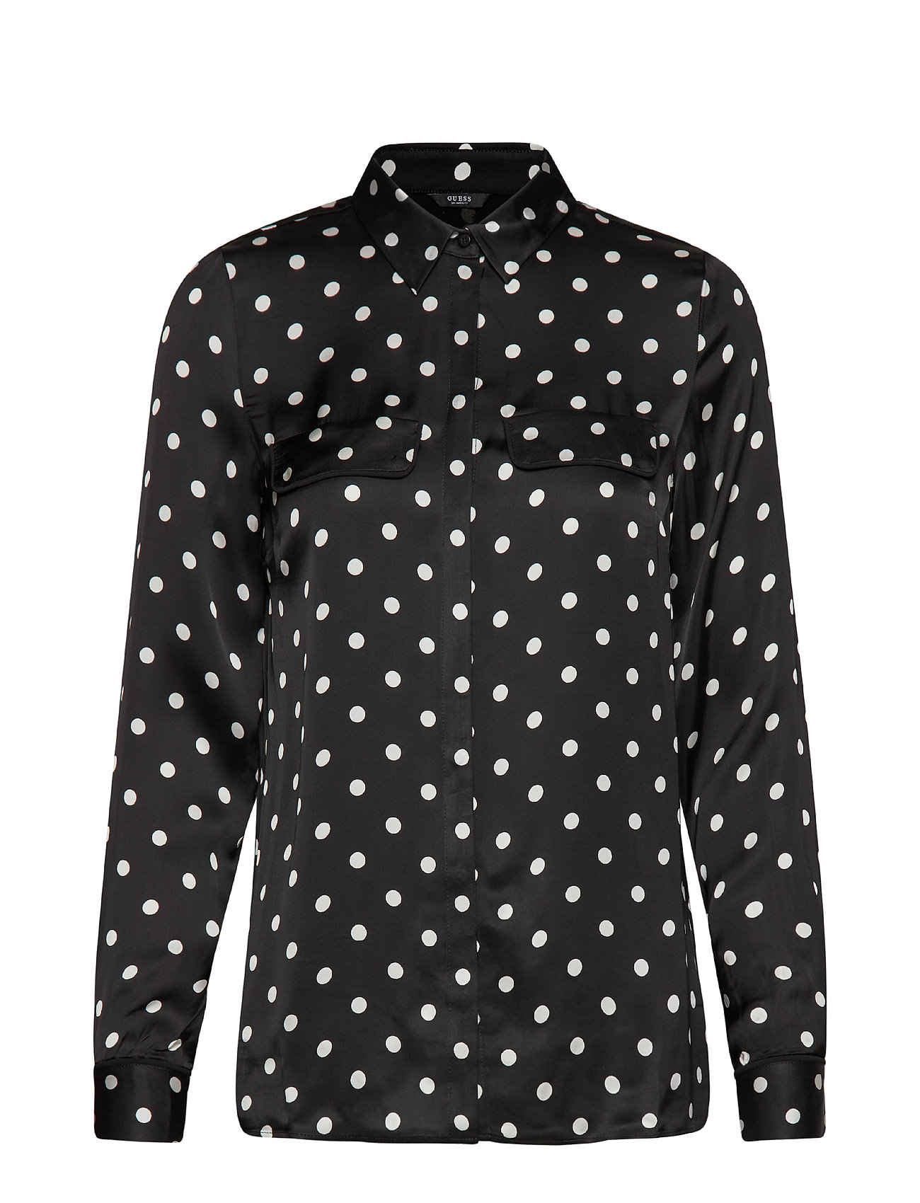 GUESS Jeans LS PETRONILLA SHIRT - B&W SMALL POIS
