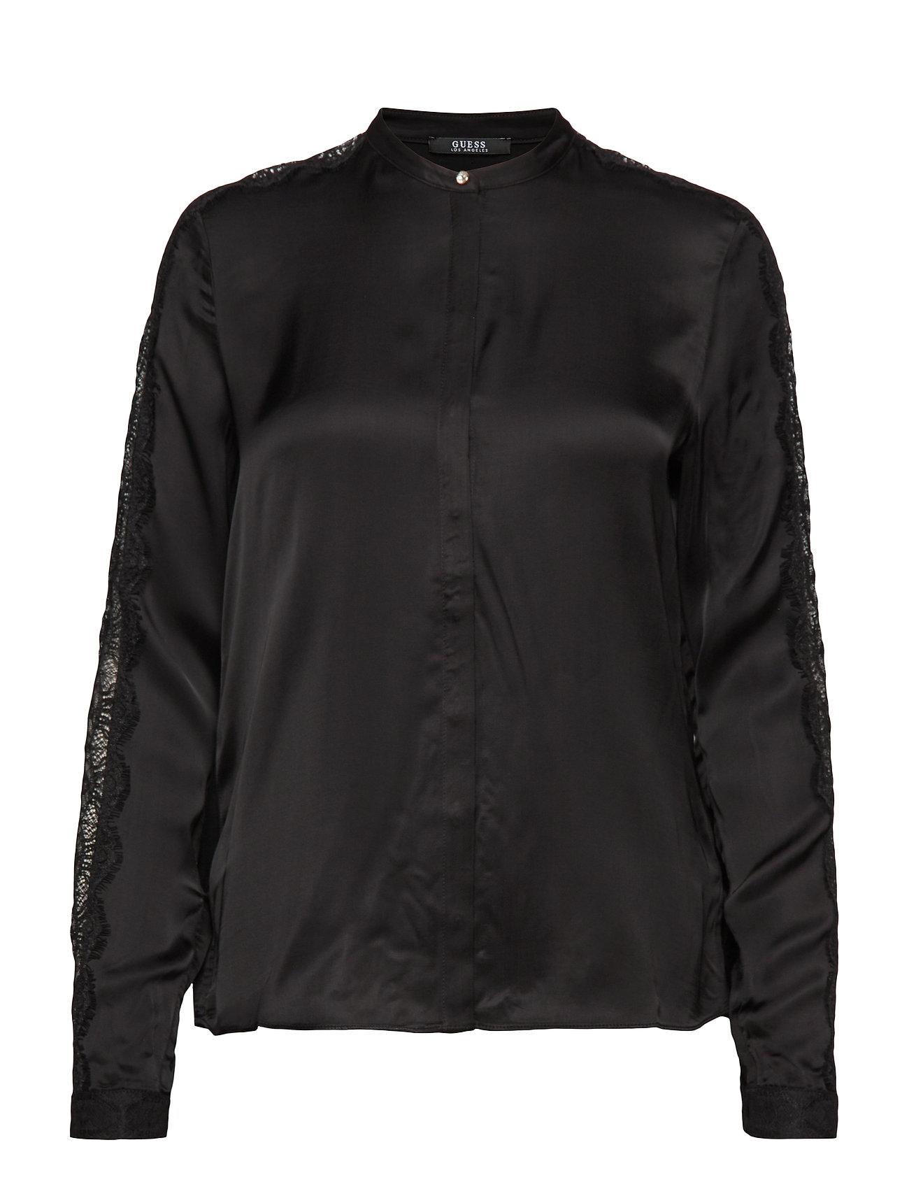 GUESS Jeans LS ORNELLA SHIRT - JET BLACK A996
