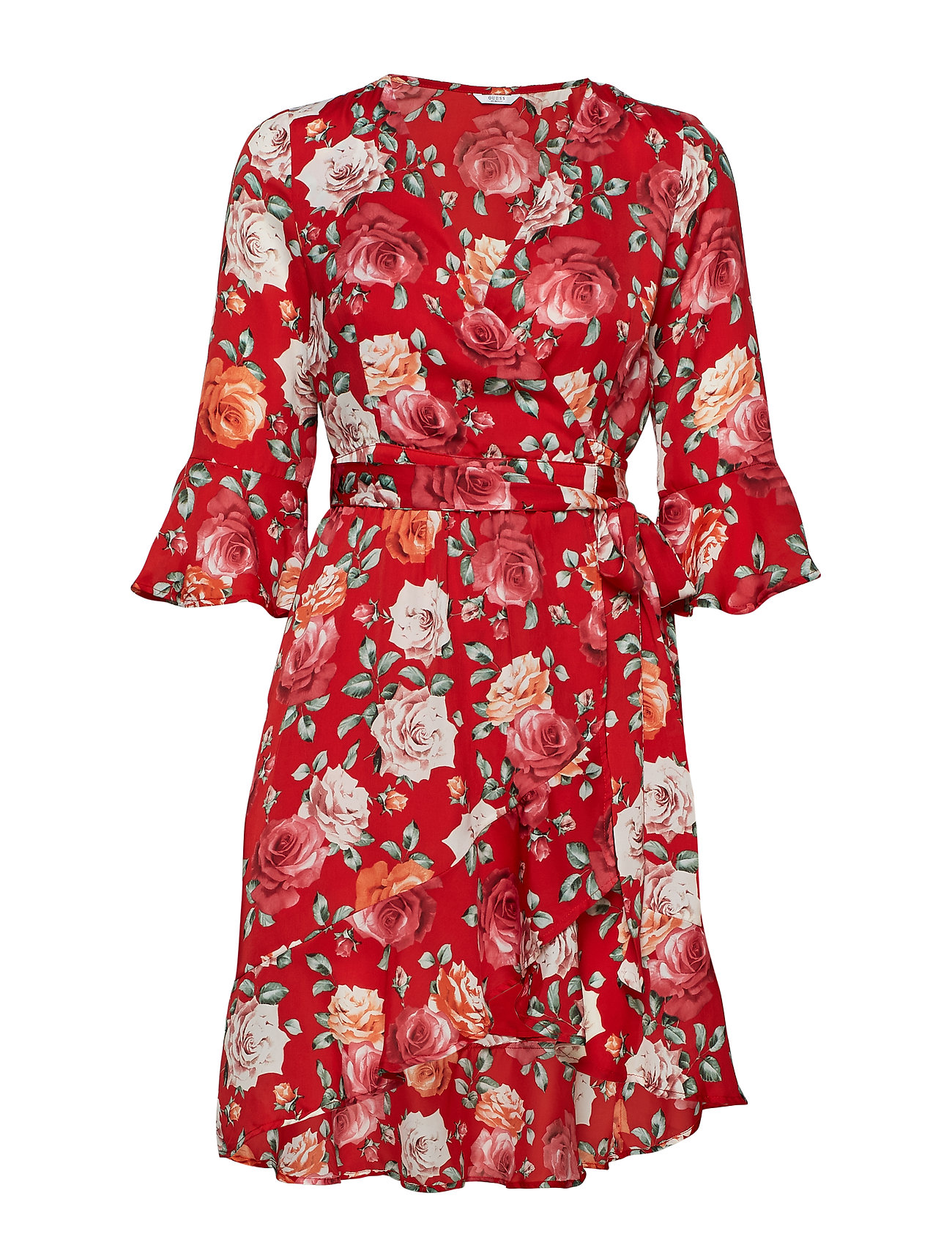GUESS Jeans ADRIANE DRESS - FLOWER POWER RED