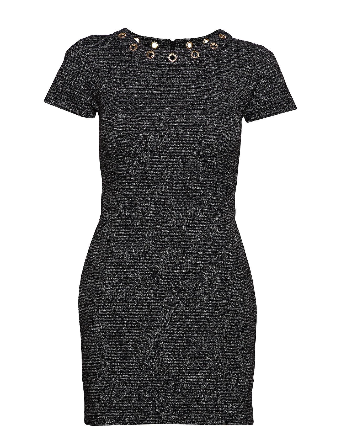 GUESS Jeans JACQUELINE DRESS - BLACK & SILVER TW