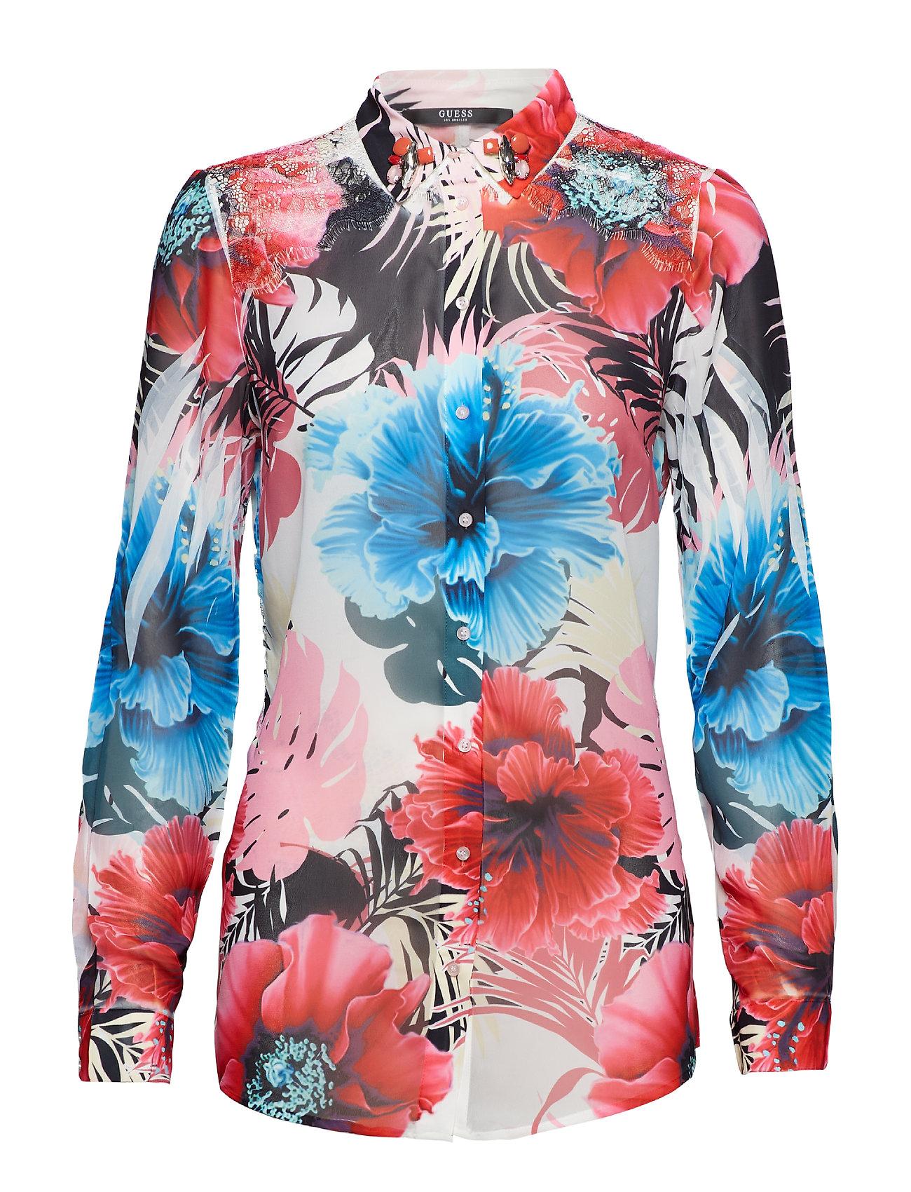 GUESS Jeans LS CLOUIS SHIRT - LUCY FLOWER COMBO