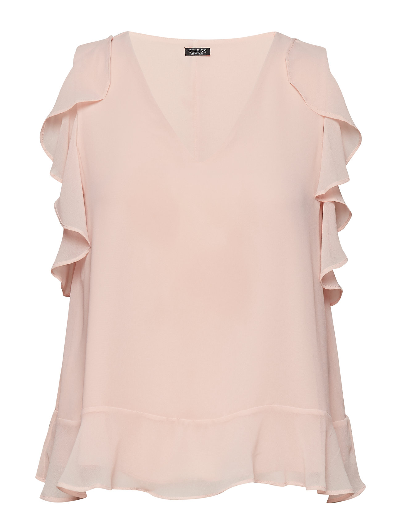 GUESS Jeans SS HOPE TOP - PALE SAND