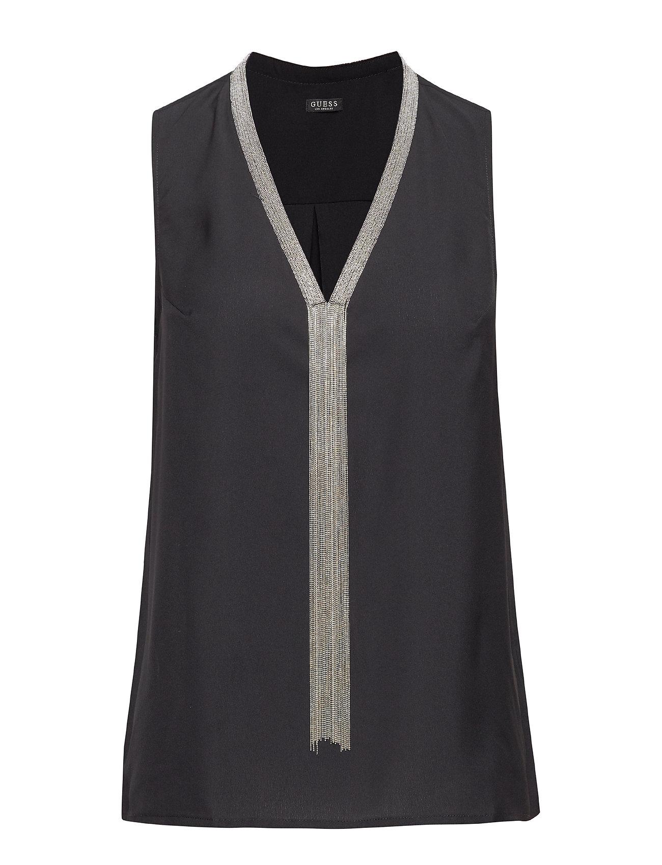 GUESS Jeans SL PILAR TOP - JET BLACK A996