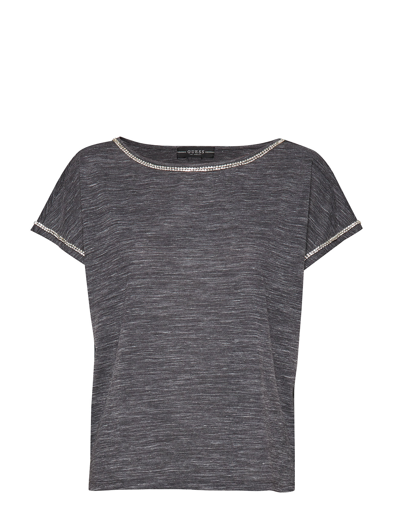 GUESS Jeans FANNY TOP - DARK GREY BURNOUT