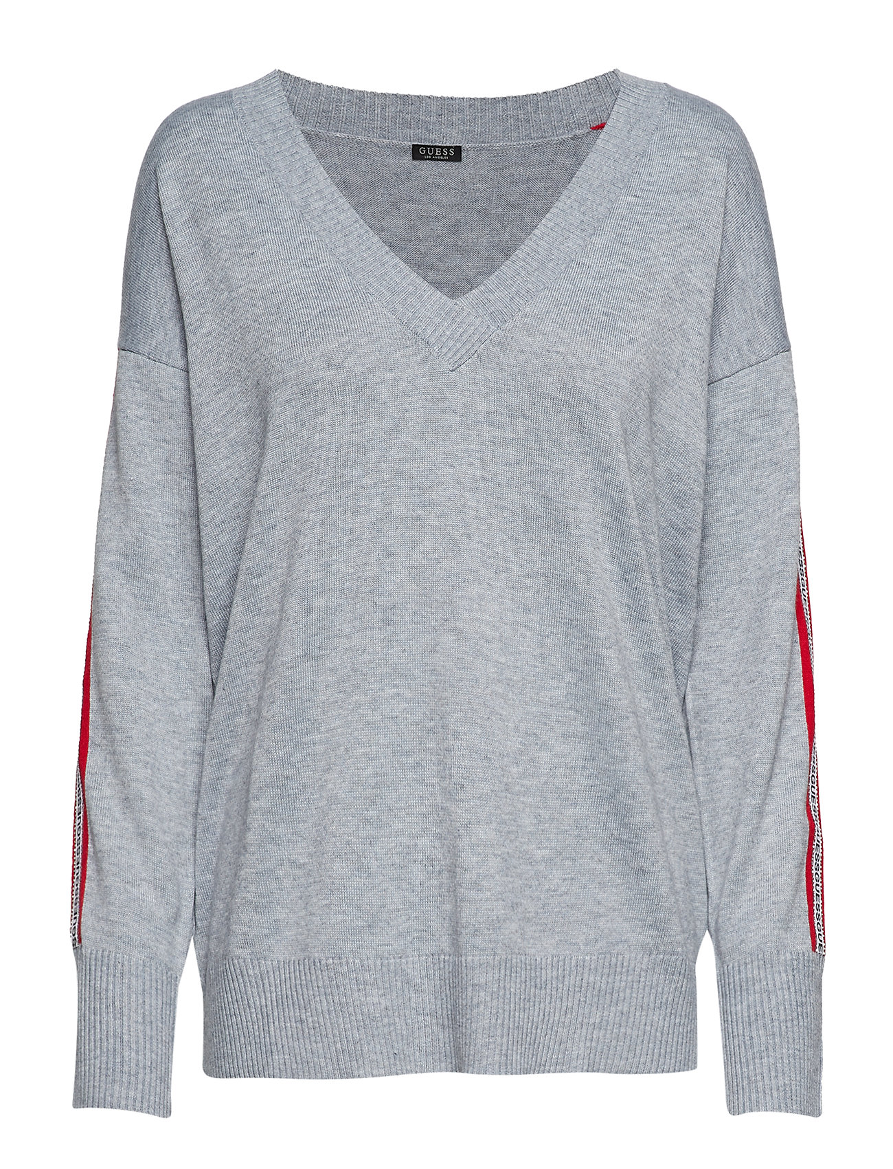 GUESS Jeans LS VN JULIE SWEATER - STONE HEATHER GRE
