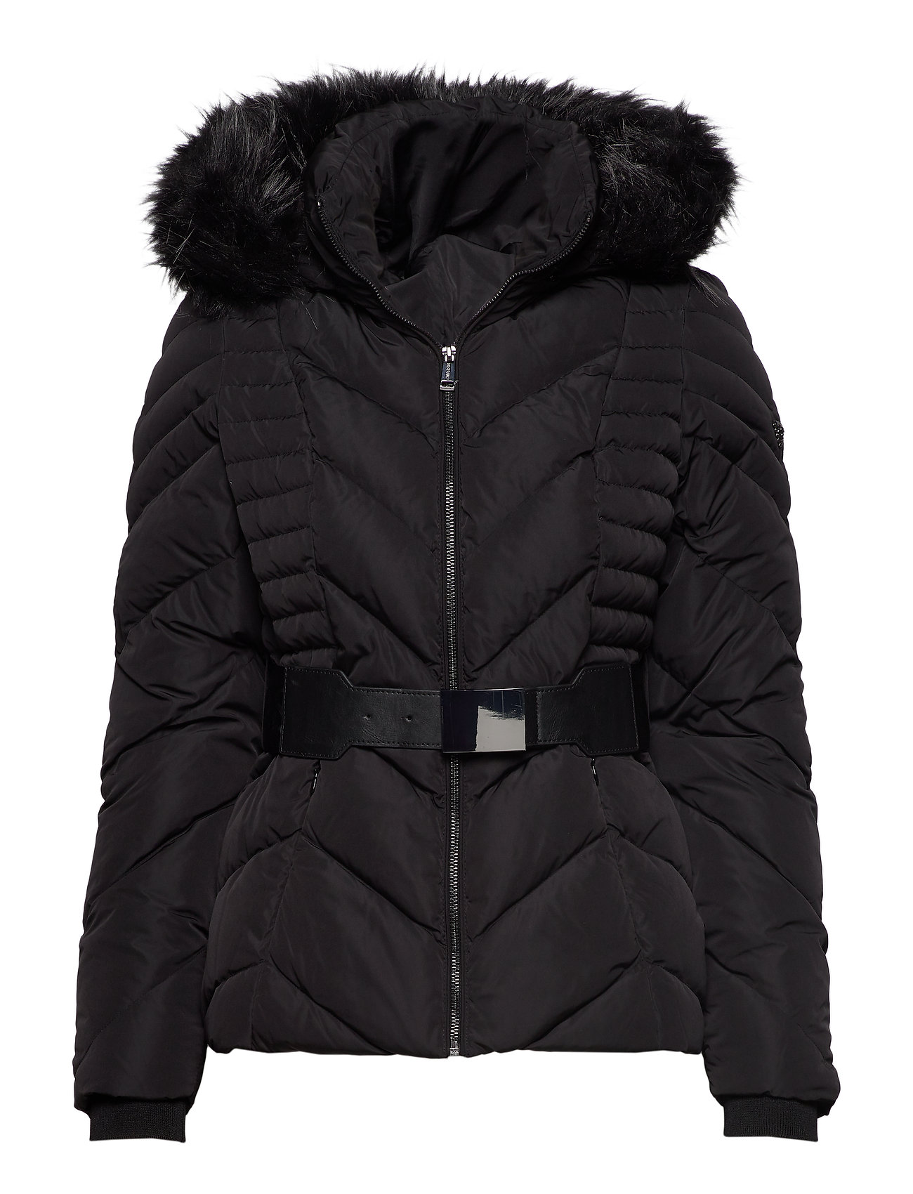 GUESS Jeans PETRA DOWN JACKET - JET BLACK A996