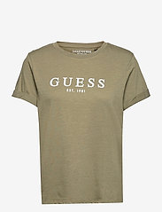 ES SS GUESS 1981 ROLL CUFF TEE - ARMY SAGE