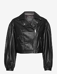 GUESS Jeans - DARYL JACKET - nahkatakit - jet black a996 - 0