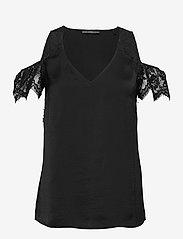 GUESS Jeans - SL MARIAH TOP - t-shirts - jet black a996 - 0
