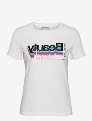 GUESS Jeans - SS CN BEAUTY TEE - t-shirts - true white a000 - 0