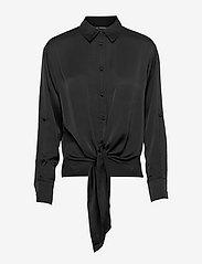 LS AMANDA SHIRT - JET BLACK A996