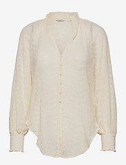 GUESS Jeans - 3 QTR SLV CHARISSE BLOUSE - långärmade blusar - cream white - 0