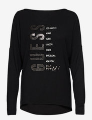 LS SEPHORA TEE - JET BLACK A996