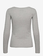 GUESS Jeans - LS CN RAISA TEE - långärmade toppar - light stone heath - 1